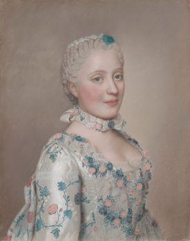 1749 Portrait of Marie-Josèphe of Saxony, Dauphine of France  Jean-Étienne Liotard