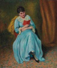 Federico Zandomeneghi (Italian, 1841–1917), Femme en Bleu qui Lit
