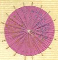 Old drink umbrella decoration