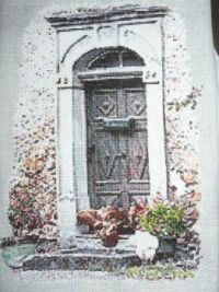 My cross-stitch door