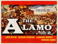 THE ALAMO - 1960 UK QUAD POSTER    JOHN WAYNE. RICHARD WIDMARK, LAWRENCE HARVEY