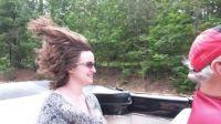 Riding in Nana Car