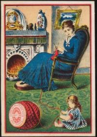 Eureka Knitting Silk for hand knitting, half ounce. Boston Public Library