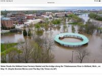 Downtown Midland Michigan flooding