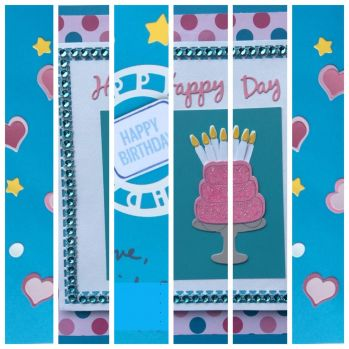 a birthday card collage
