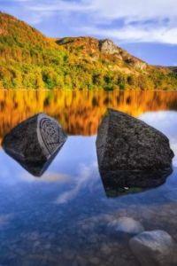 The Millennium Stone, Derwentwater, Lake District, UK