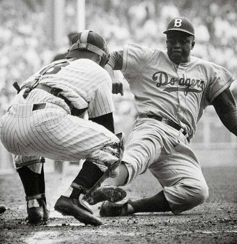 Yep he was safe...Jackie Robinson