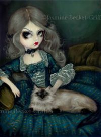 Princess with a Himalayan Cat - Jasmine Becket-Griffith