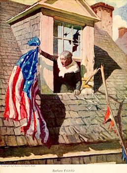 Barbara Freitchie, nd, illustration by N. C. Wyeth (1882-1945)