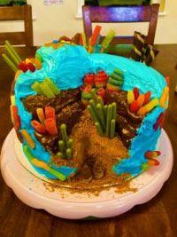 When the birthday girl wants a coral reef cake for her 6th birthday, you make her a coral reef cake