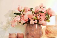 Pink Flowers In Vases