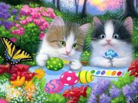 Cute Cats Painting