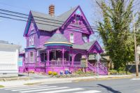 A purple house in Lewes, Delaware