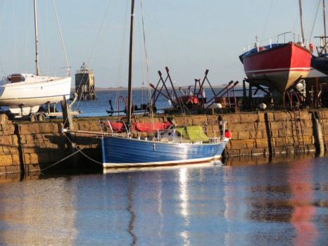 Blue Boat in Tayport Harbour