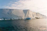 Part of the Ross Ice Shelf in Antarctica