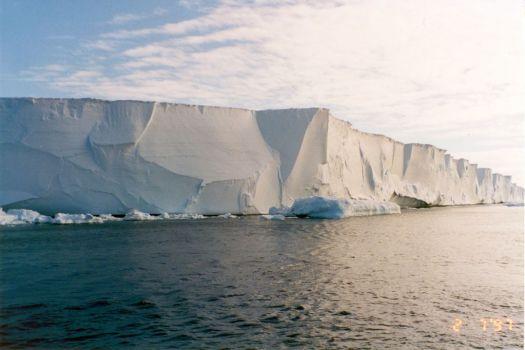 Part of the Ross Ice Shelf in Antarctica