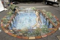 Pool - 3D Chalk Art - By Julian Beever