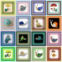 Beautiful  and colorful snail brooches
