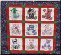 fun time bears quilt top