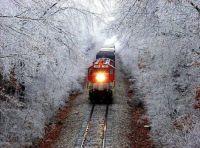 Traveler on the tracks