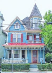 Quaint Little Blue Victorian House...