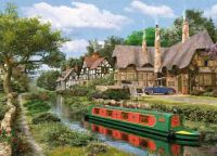 Cottage on Canal by Dominic Davison