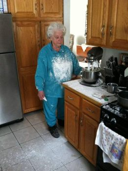 Grandma was having a hard time with the mixer