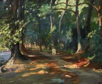 """Sir John Lavery, """"The Path by the River, Maidenhead"""", 1919"""