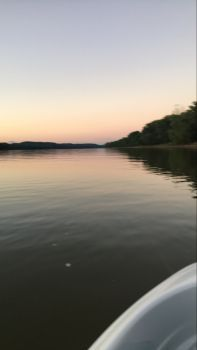Looking toward Madison on the Ohio at sunset.