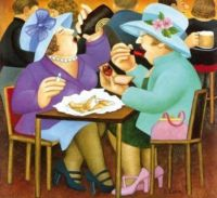 Beryl Cook - Ladies who lunch!
