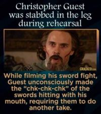 "15 Inconceivable Facts about ""The Princess Bride"" - Christopher Guest as Count Rugen"