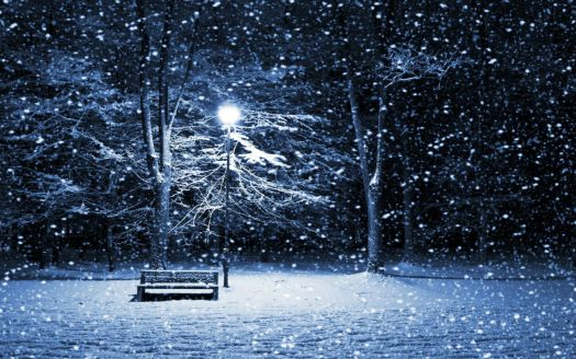 snowyparkbench