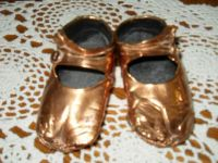 Papa's bronzed baby shoes (80 years old)