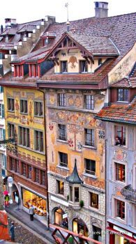 Beautiful building in Lucerne, Switzerland