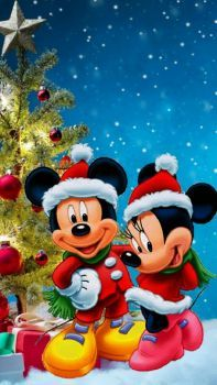 Mickey and Minnie celebrating Christmas!