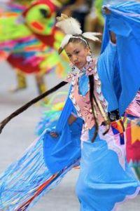 Powwow Dancer in full regalia