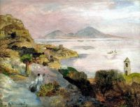Sorrento Coast Overlooking Capri by Oswald Achenbach