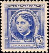 Louisa May Alcott Postage Stamp - 1940
