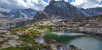 Lake at 13,000 feet in the Rockies