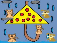 Weather Raining Cats & Dogs Doodle