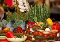 mediterranean vegetables and herbs