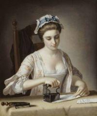 Henry Robert Morland A Laundry Maid Ironing c.1765-82