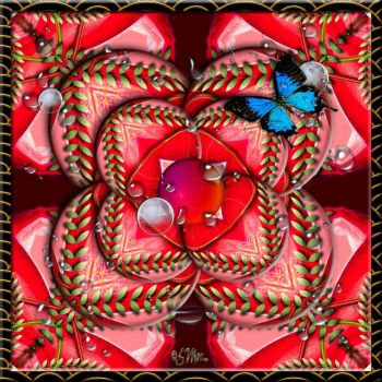 FOR Mimi Kaleido With Butterfly In Red.....