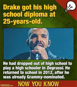 14 Now-You-Know Music Facts To Keep Your Brain Humming - Drake