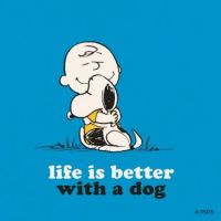 Charlie Brown Life Better with dog