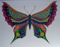 Doodle Artist Butterflies colouring page
