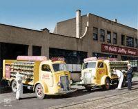 1938 International model D-400 Coke delivery trucks.