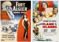 Yvonne DeCarlo ~ Fort Algier ~ 1953 and Flame of the Islands ~ 1956