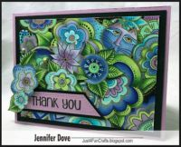 Handmade card from Laurel Burch design