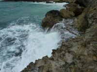 Crashing waves in Aruba